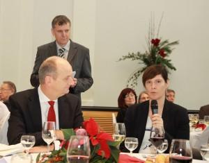 Ditmar Woidke Ministerpräsident und Ariane Böttcher Vorstandsvorsitzende ZiBeV